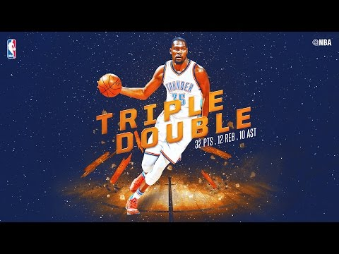 Kevin Durant Racks Up Triple Double vs. Hawks