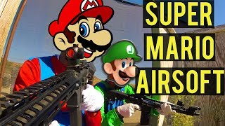 Super Mario Bros. Airsoft | Halloween 2017 Special with House Gamers and Dutch The Hooligan