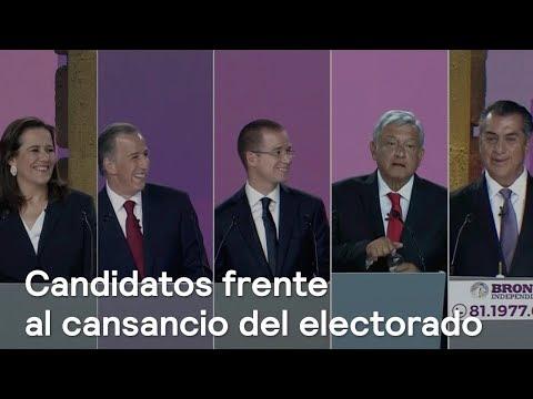 Candidatos frente al cansancio del electorado - Primer debate presidencial