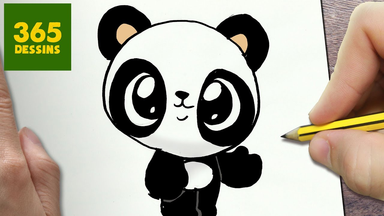 Comment Dessiner Panda Kawaii Etape Par Etape Dessins Kawaii