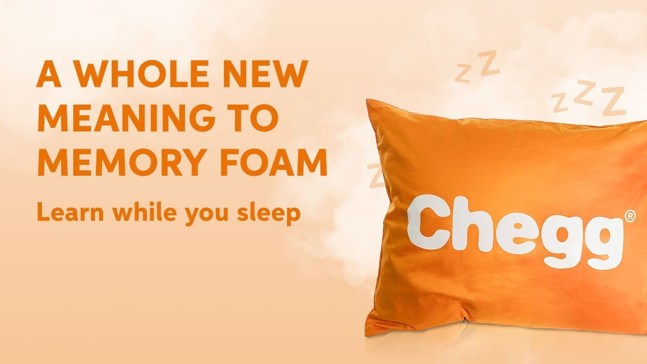 Introducing The Chegg Osmosis Pillow: A revolutionary way to learn while  you sleep