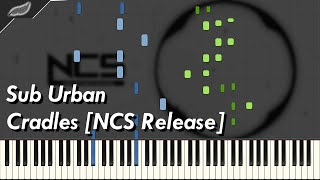 Sub Urban - Cradles [NCS release] Synthesia Piano Tutorial