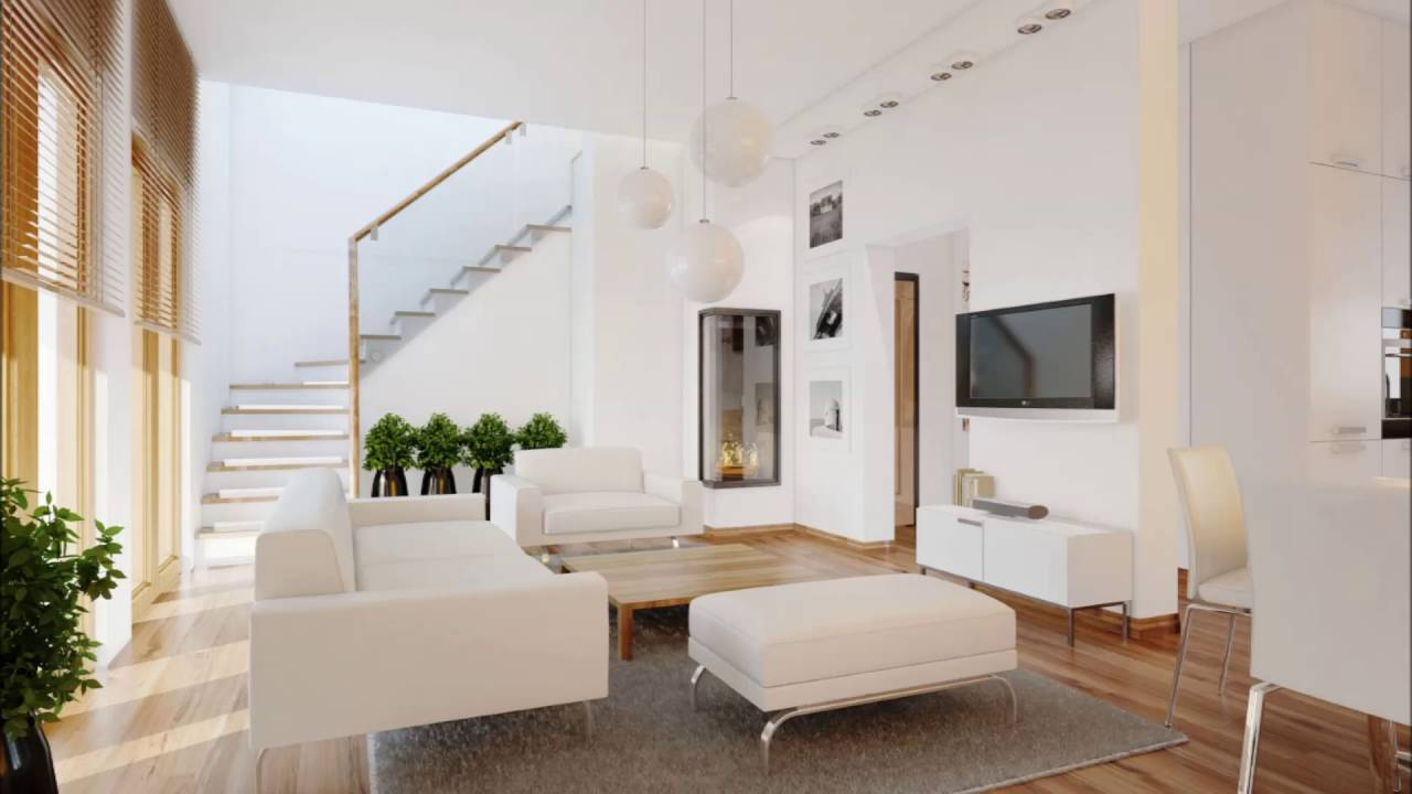 Modern Living Room With A Balcony And Tv Set Interior Design Ideas