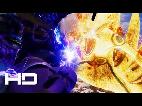 JUMP FORCE - Perfect Susanoo Sasuke VS Six Paths Naruto Gameplay | JUMP FORCE E3 2018 Gameplay