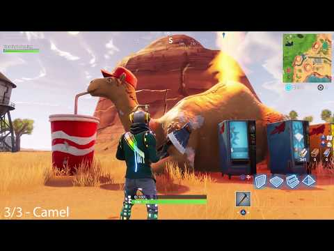 Fortnite BR - Visit A Viking Ship, A Camel, And A Crashed Battle Bus - Season 6 Week 10 Challenges