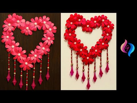 DIY Paper Craft - Paper Heart Design Valentine's Day and Roo