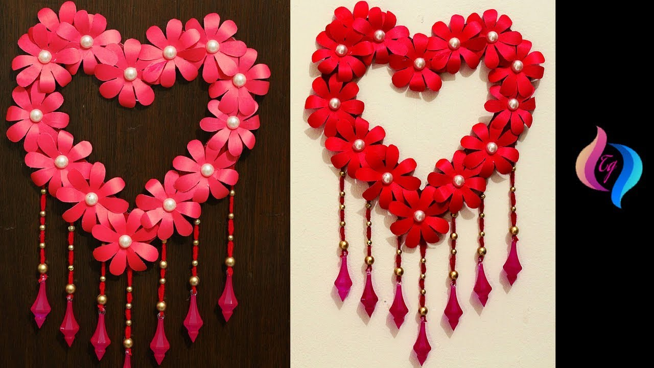 Diy paper craft paper heart design valentine 39 s day and - Valentine day room decoration ...