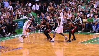 Rondo fakes behind the back and gets to the rack
