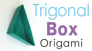 Easy Origami Triangular Paper Box - Origami Kawaii〔#095〕