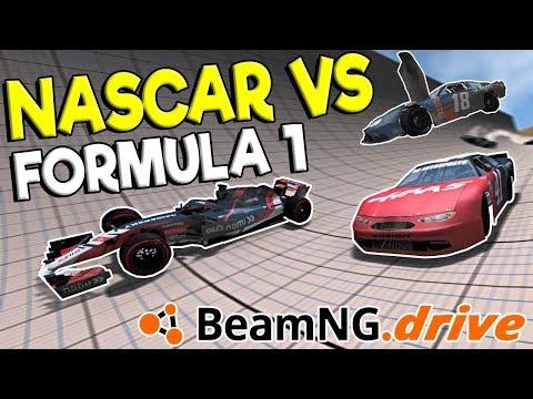 INSANE FORMULA 1 vs NASCAR RACES & CRASHES!