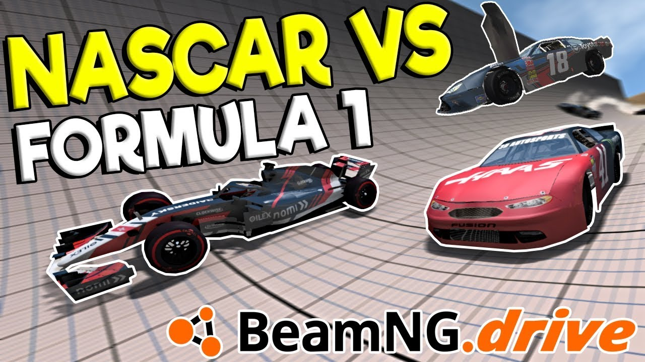 INSANE FORMULA 1 vs NASCAR RACES & CRASHES! - BeamNG Drive Gameplay & Crashes