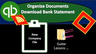 QuickBooks Online 2019-Organize Documents Download Bank Statement