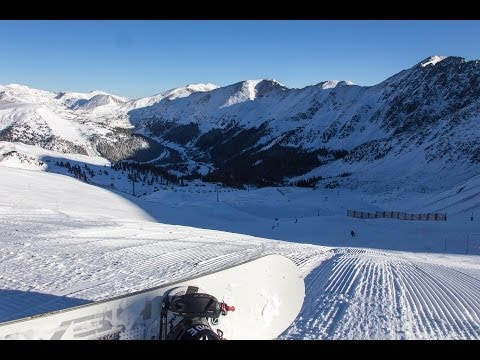 Early morning top-to-bottom run at Arapahoe Basin pre- #epicrace