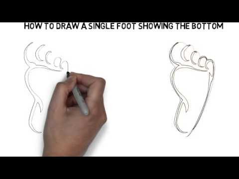 how to draw foot bottom