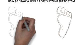 How To Draw A Single Foot Showing The Bottom