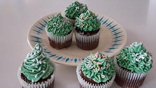 크리스마스트리 컵케이크, 초코칩머핀, 크리스마스베이킹,…