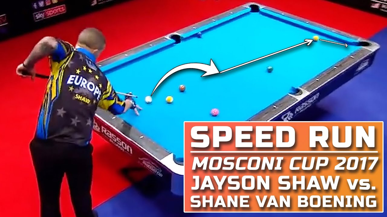 Jayson Shaw vs Shane Van Boening Mosconi Cup 2017 | Kamui Speed Run