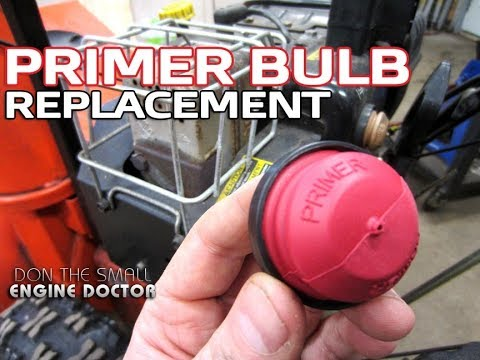 HOW-TO Replace A Snowblower Primer Bulb
