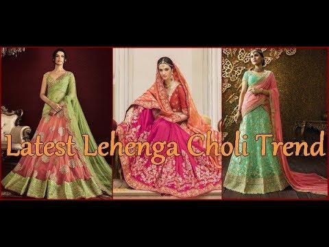 Latest Lehenga Choli Trends Designs 2018 Pakistani & Indian