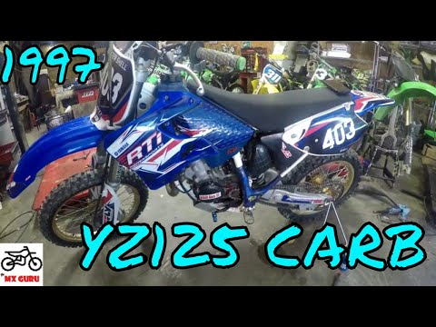 Yamaha YZ 125 1997 Cleaning The Carburetor HOW TO Jets