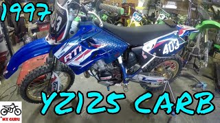 Yamaha YZ 125 1997 - Cleaning the Carburetor - HOW TO - Jets / Float / Assembly