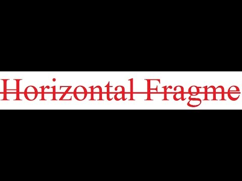 horizontal fragmentation prac1