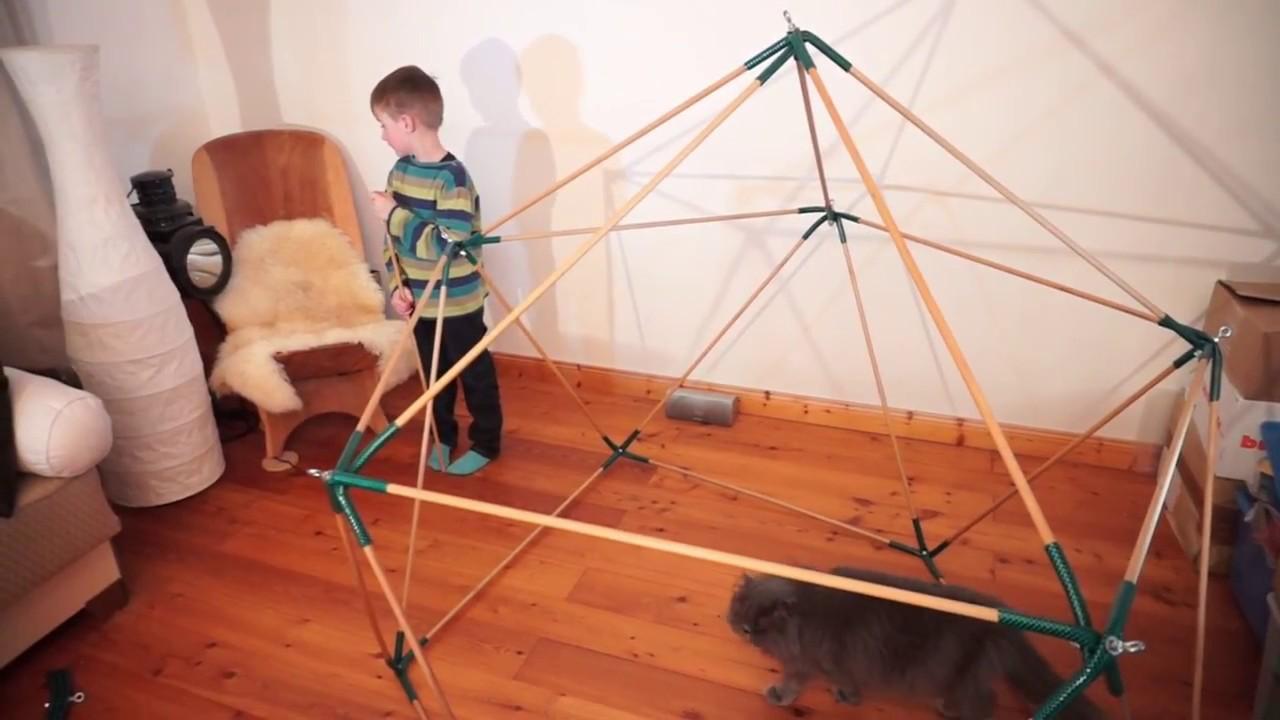Geodaetischer Dome - das DIY Spielhaus - YouTube