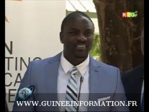 JT RTG DU 12.02.2014. La Star Akon à Conakry avec un projet dénommé Akon lighting Africa