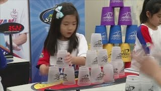 Kids in Taiwan are cup stacking champions