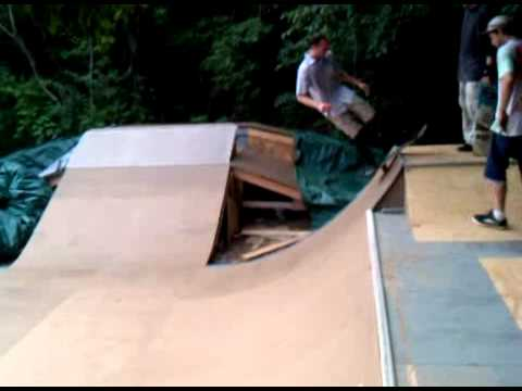 Sweet Backyard Skate Ramp In Plattsburgh NY