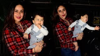 Taimur Ali Khan in a Fun Mood with Mom Kareena Kapoor