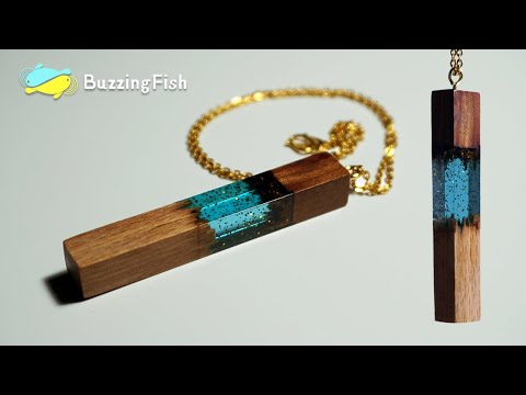 Make a Secret Pendant Necklace with Resin and Wood | Resin ART