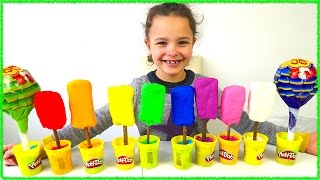 Play Doh Ice Cream Shop Learn Colors for Kids Playdoh Icecream Shop