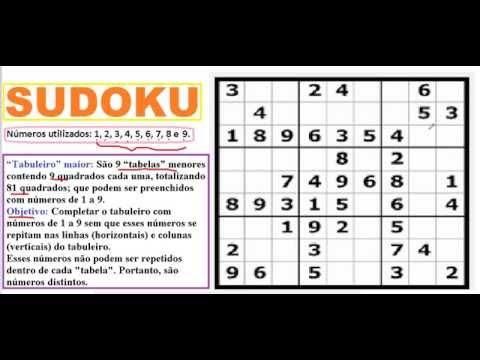 Curso de Raciocínio Lógico Matemático Como resolver jogar SUDOKU iniciantes ou leigos passo a passo from YouTube · Duration:  20 minutes 27 seconds