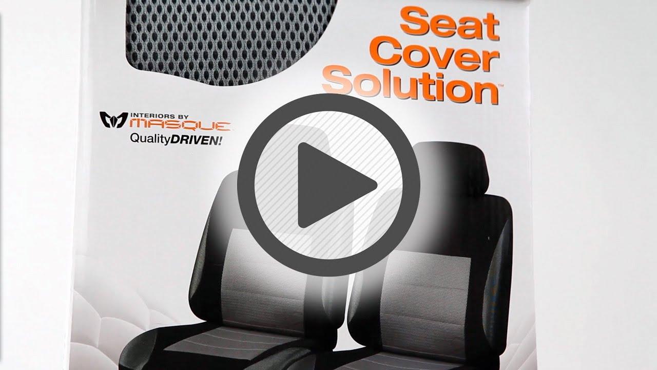 Masque Firenze Black Grey Seat Cover Set Pep Boys