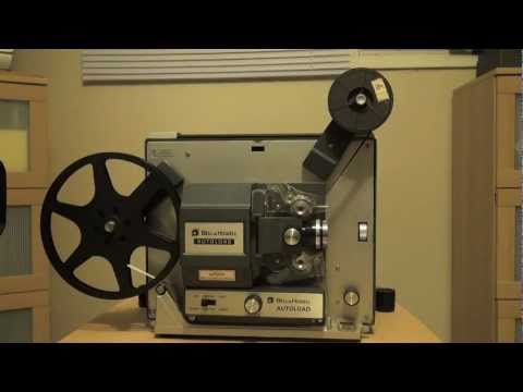 How to load a Bell and Howell Super 8 Autoload Projector