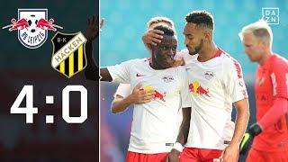 Die roten Bullen laufen heiß: RB Leipzig - BK Häcken 4:0 | Highlights | Europa League | DAZN