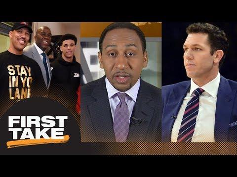 Stephen A. Smith: LaVar Ball betrayed Magic Johnson with Luke Walton comments | First Take | ESPN