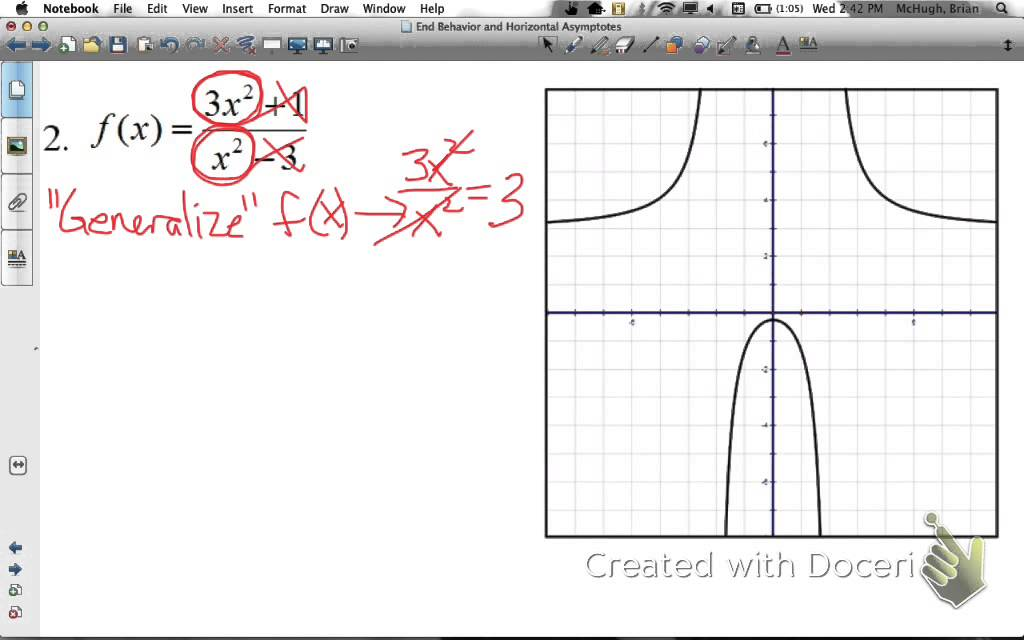 End behavior and horizontal asymptotes youtube end behavior and horizontal asymptotes ccuart Image collections
