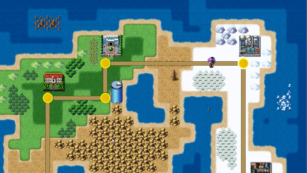 Super Mario-style World Map - RPG Maker MV/Ace Tutorial - YouTube on