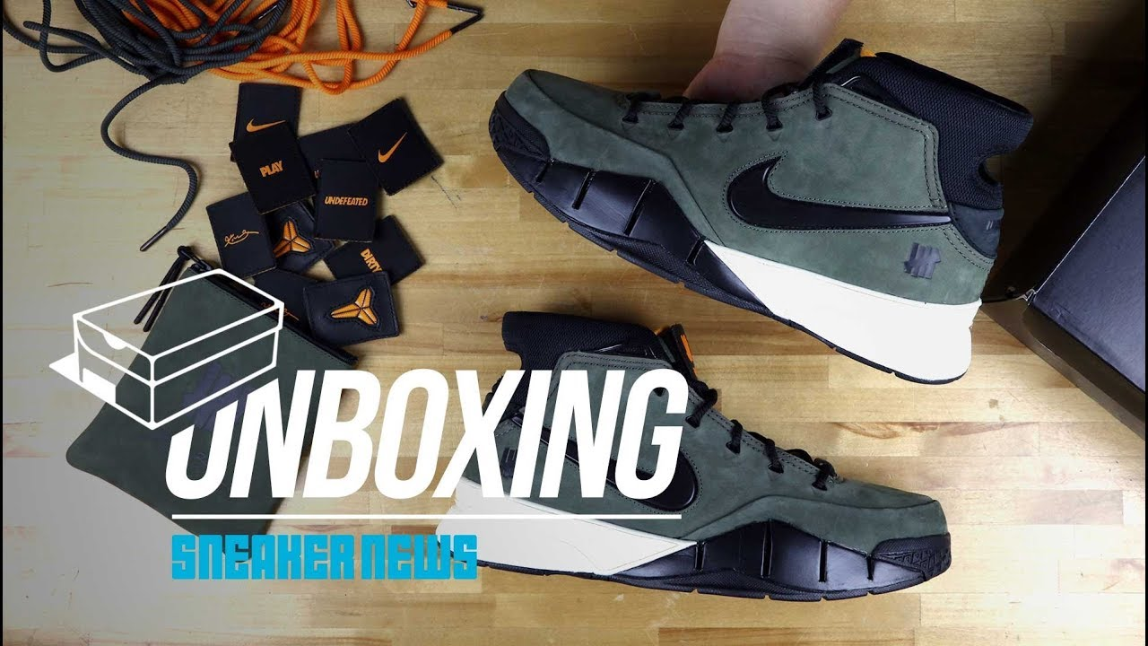 "9e0cf1bd201ae Unboxing The UNDEFEATED Nike Zoom Kobe 1 Protro ""Flight Jacket ..."