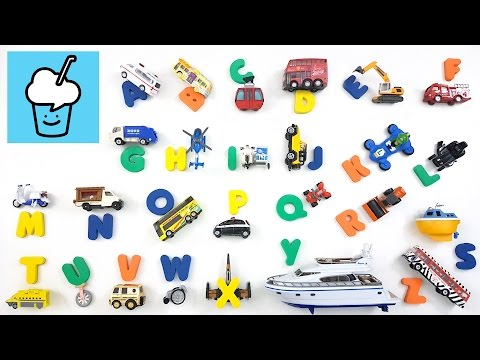 Learning English Letters for kids with different vehicles of tomica トミカ siku VooV ブーブ 変身