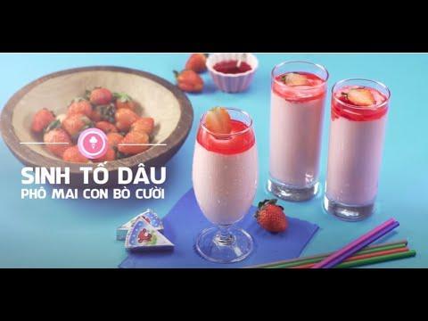Nấu ăn cùng Con Bò Cười - Sinh tố dâu phô mai