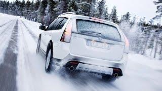 Невероятные зимние виражи на скользких дорогах!!!