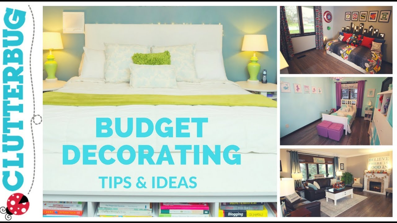 home decorating tips ideas on a budget youtube. Black Bedroom Furniture Sets. Home Design Ideas