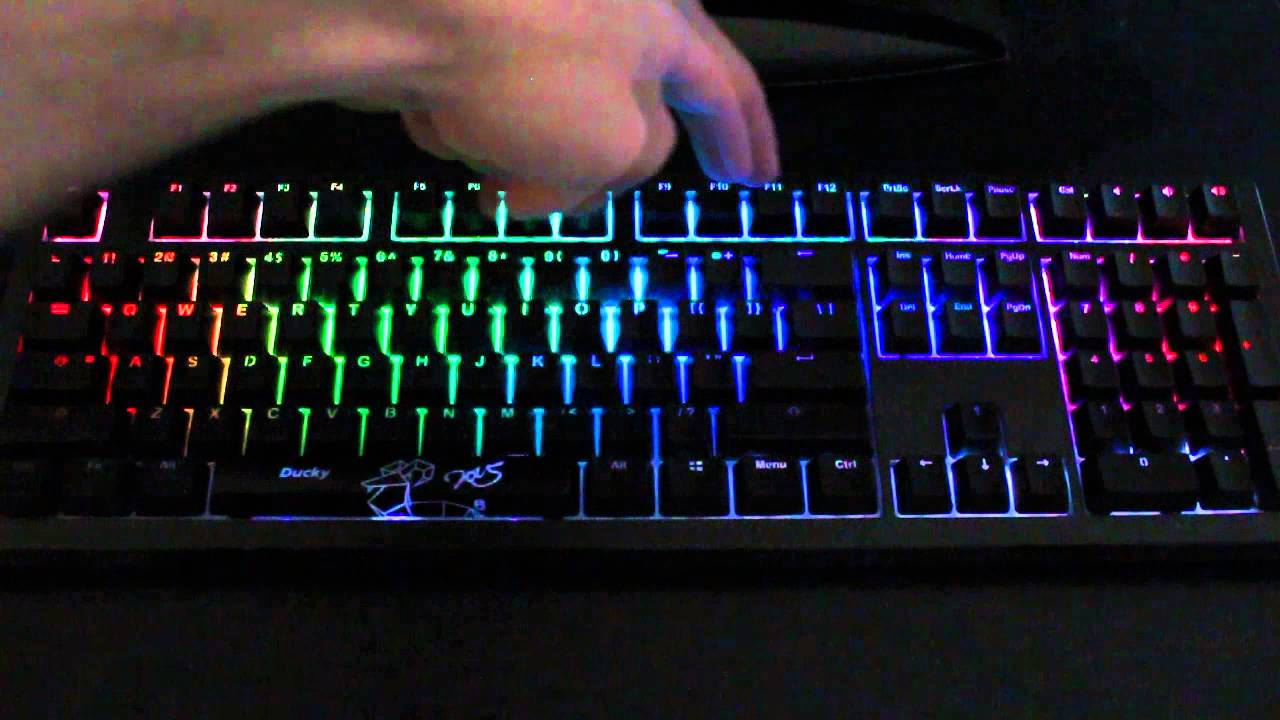 ab2f385a87f Ducky Shine 5 - FN+Spacebar: Color palette - YouTube