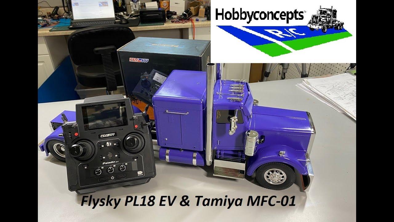 RC Flysky PL18 EV Radio and Tamiya MFC-01 Programming & Setup