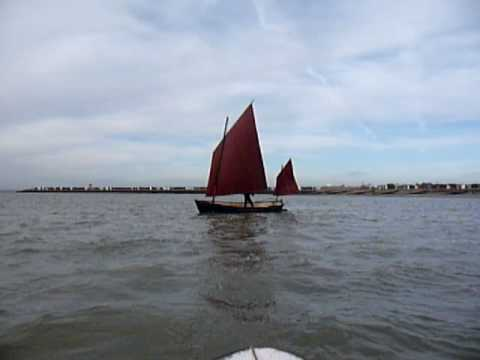 Deben Lugger capsize in force 6
