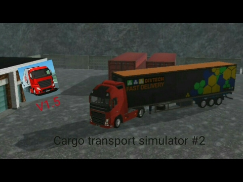 Cargo transport simulator #2 [Volvo fh16 E6] Driving in the snow [Lugano-Geneve]
