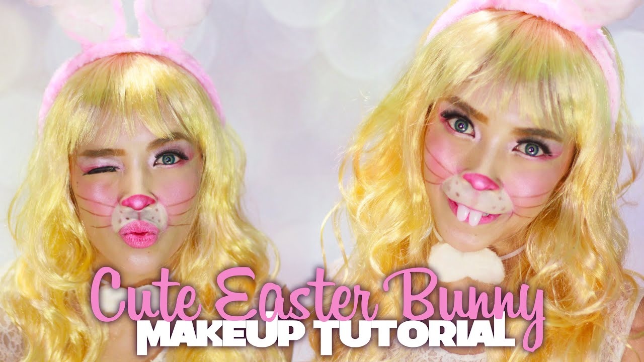 Cute Easter Bunny Makeup Tutorial | Halloween Series - YouTube